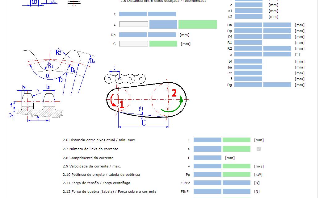 fabricadoprojeto calculo online transmissao por corrente de rolos
