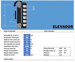 fabricadoprojeto calculo potencia elevador de canecas
