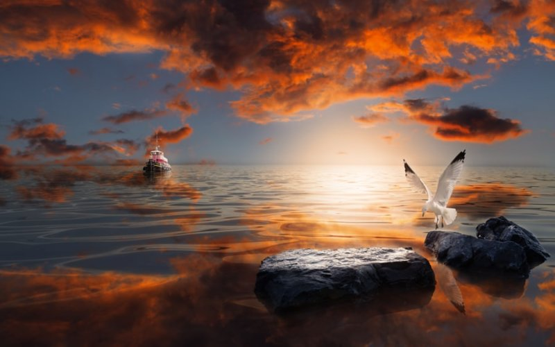 Tutorial : Learn How to Create a Surreal Seascape Using Your Imagination and Photoshop