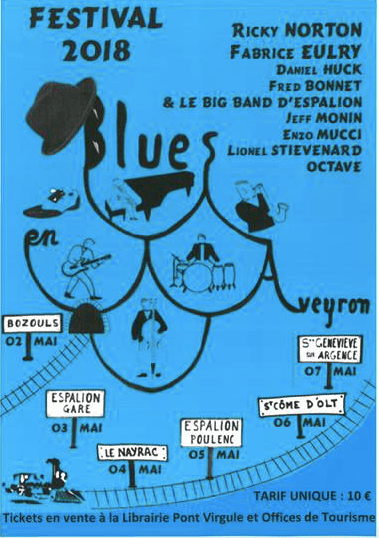 AFFICHE BLUES EN AVEYRON 2018