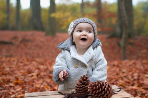 Galerie bébé bois automne