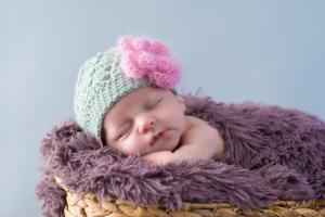 Bébé bonnet fleur rose