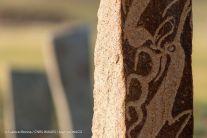 Une stèle sur le site de Uulaan Ushig