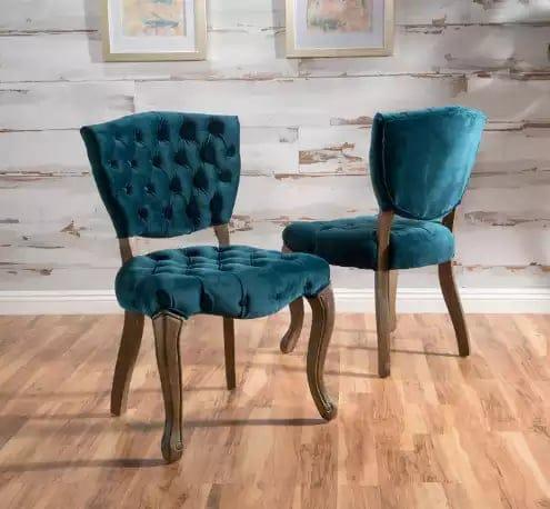 Elizabeth Tufted Dark Teal chair