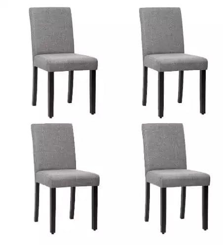 FDW Kitchen Room Side Armless Fabric Cushion Chair