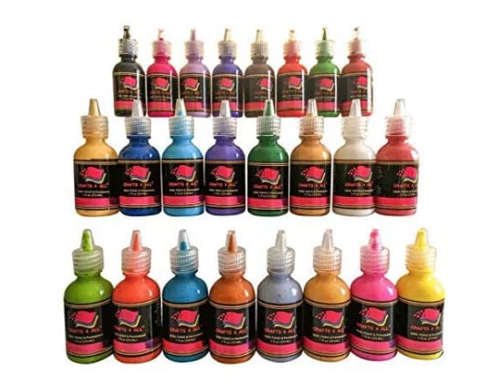 Crafts 4 all 3D permanent 24 colors fabric and clothes  paint