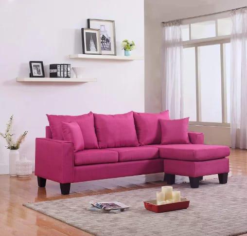 Divano Roma Furniture modern linen fabric