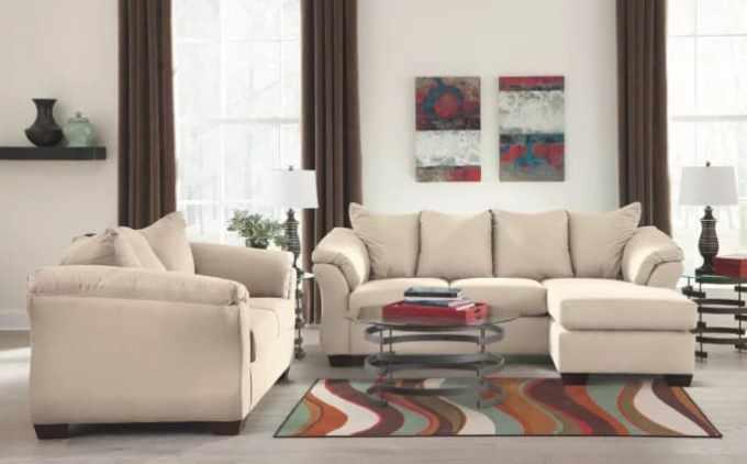 Ashley Furniture Signature Design- Darcy Contemporary Microfiber Sofa
