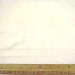 White Pin Tuck Smocking T-Shirting