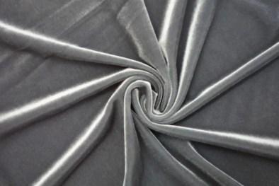 Stretch Velvet Charcoal