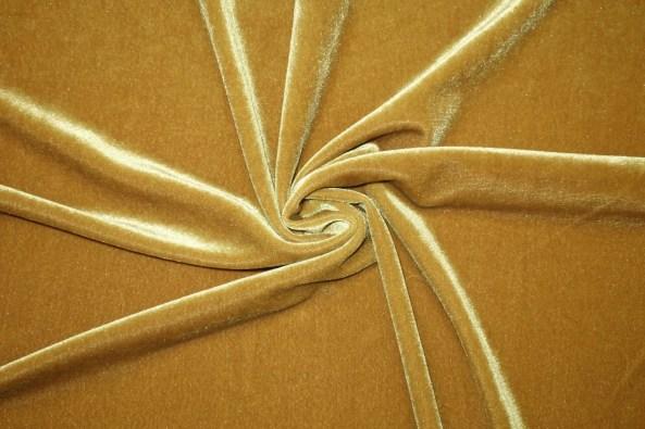 Stretch Velvet Gold
