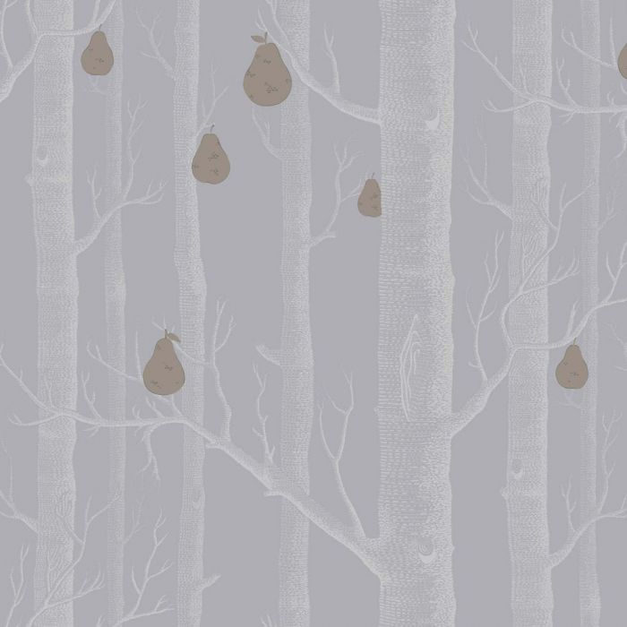 Woods And Pears Wallpaper Battleship Grey Feature Wall Covering Cole Son