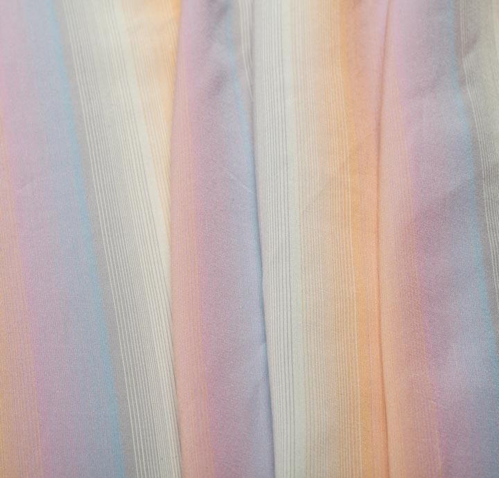 100 Pastel Rainbow Silk Fabric