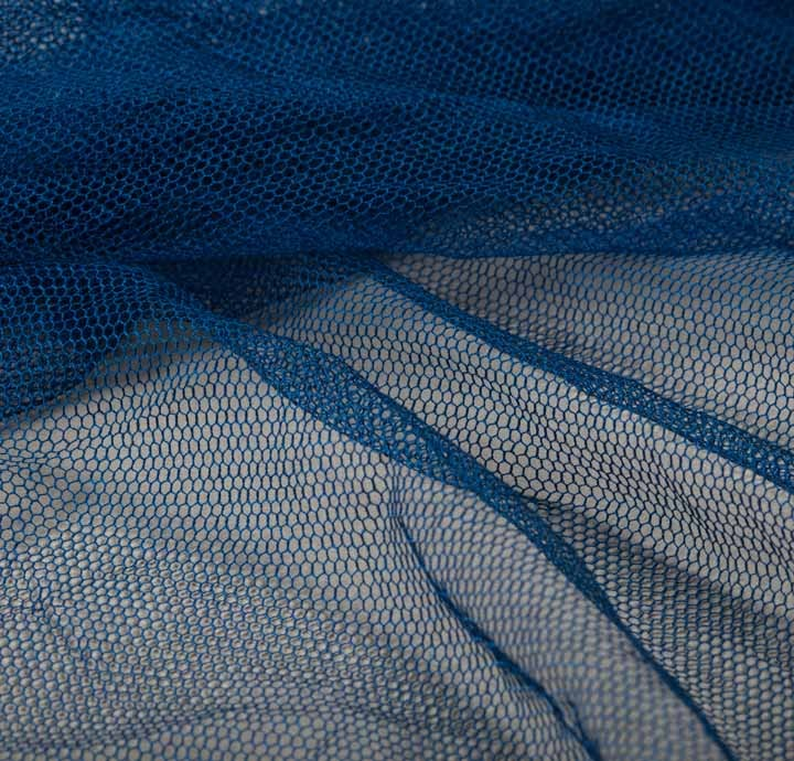 100 Tulle Soft Mesh Blue Fabric