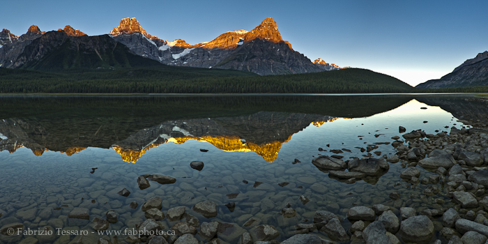 UPPER WATERFOWL LAKE,Banff National Park, Alberta Canada