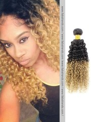 cheap black blonde ombre kinky