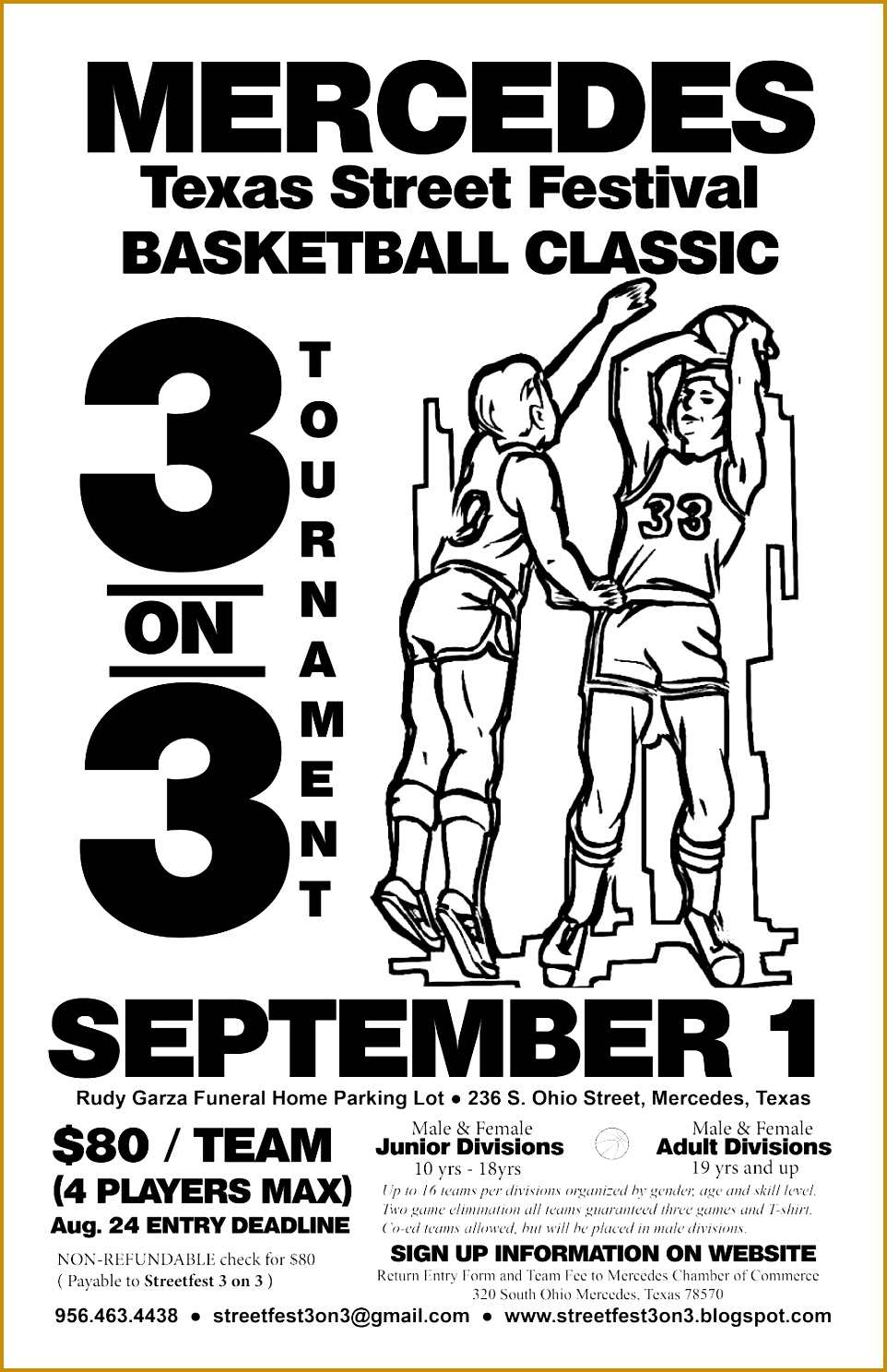 3 3 On 3 Basketball tournament Registration form Template