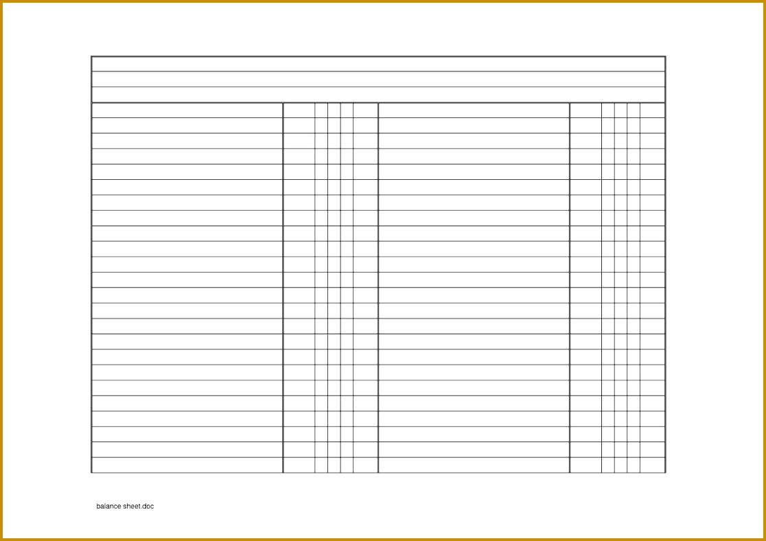 7 Balance Sheet Projection Template