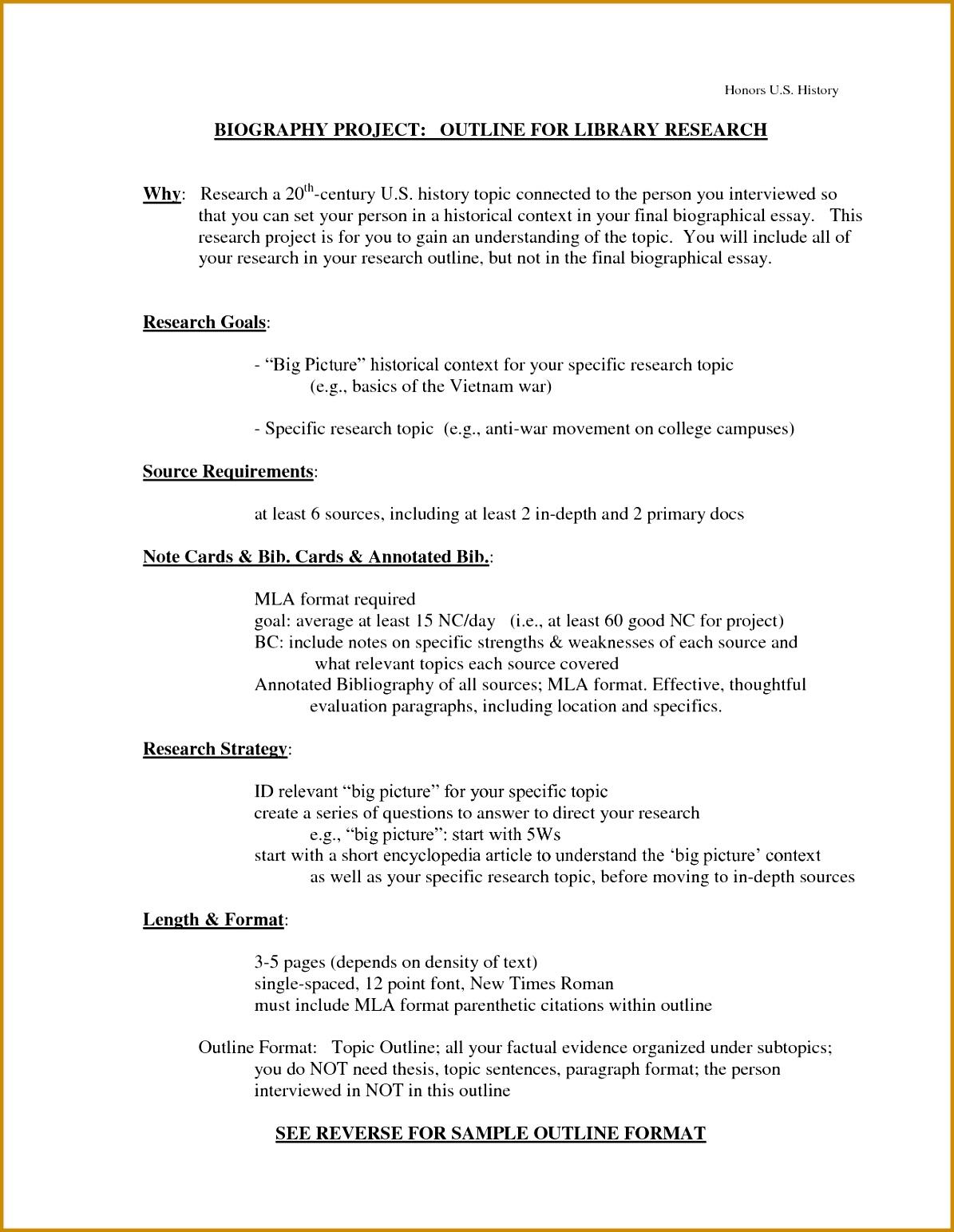 7 Bio Sheet Template