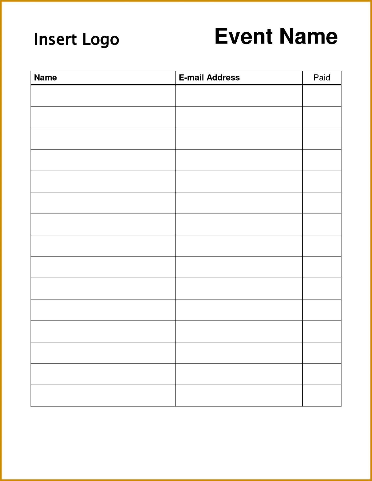 6 Club Sign In Sheet Template
