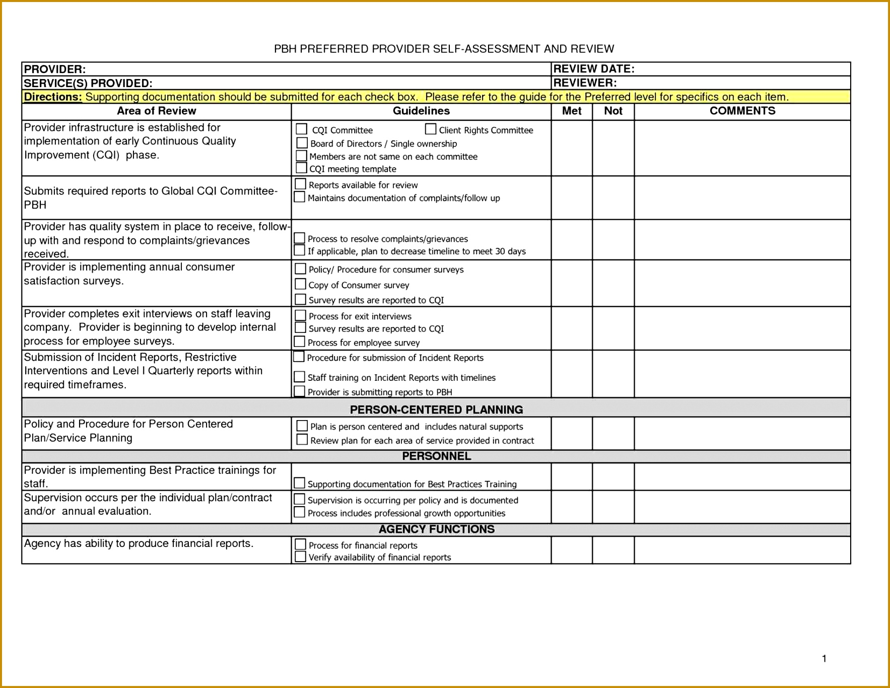 3 Community Service Documentation Form Template
