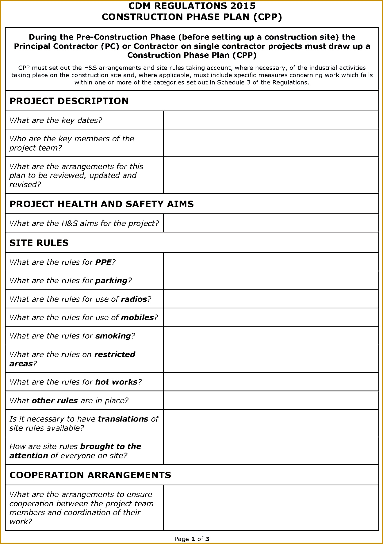 5 Construction Phase Plan Template Free Download
