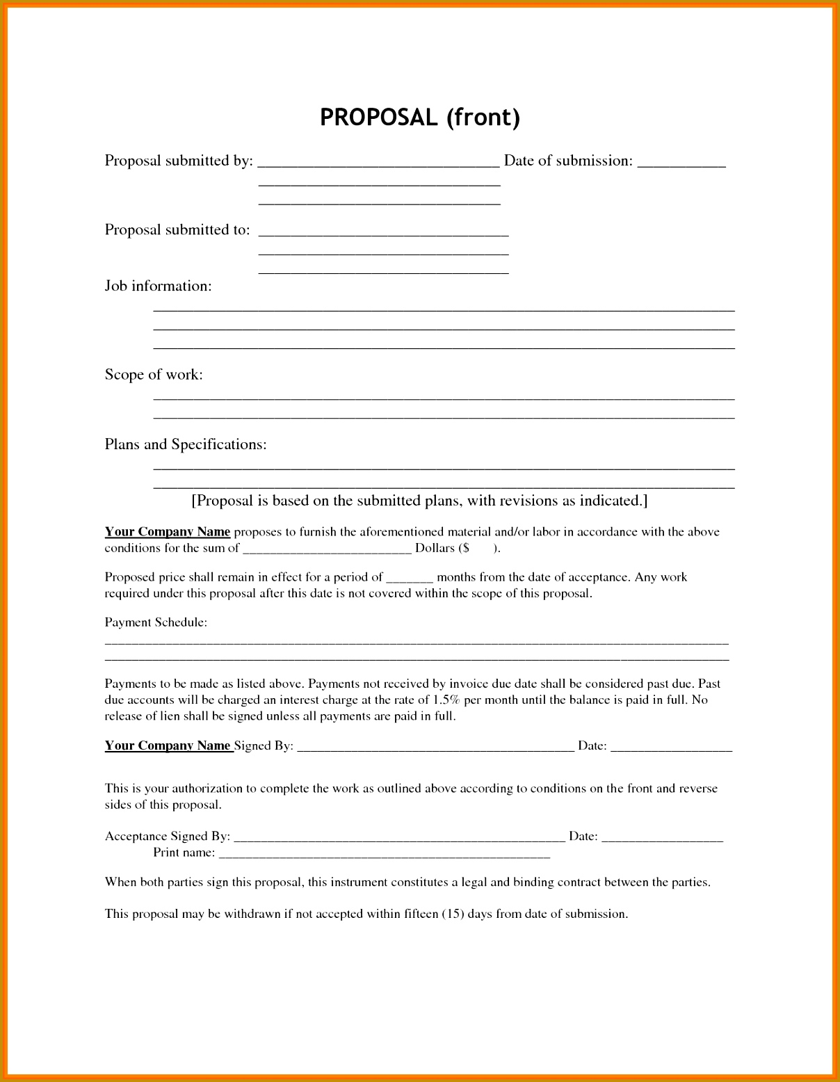 3 Hiring Proposal Template