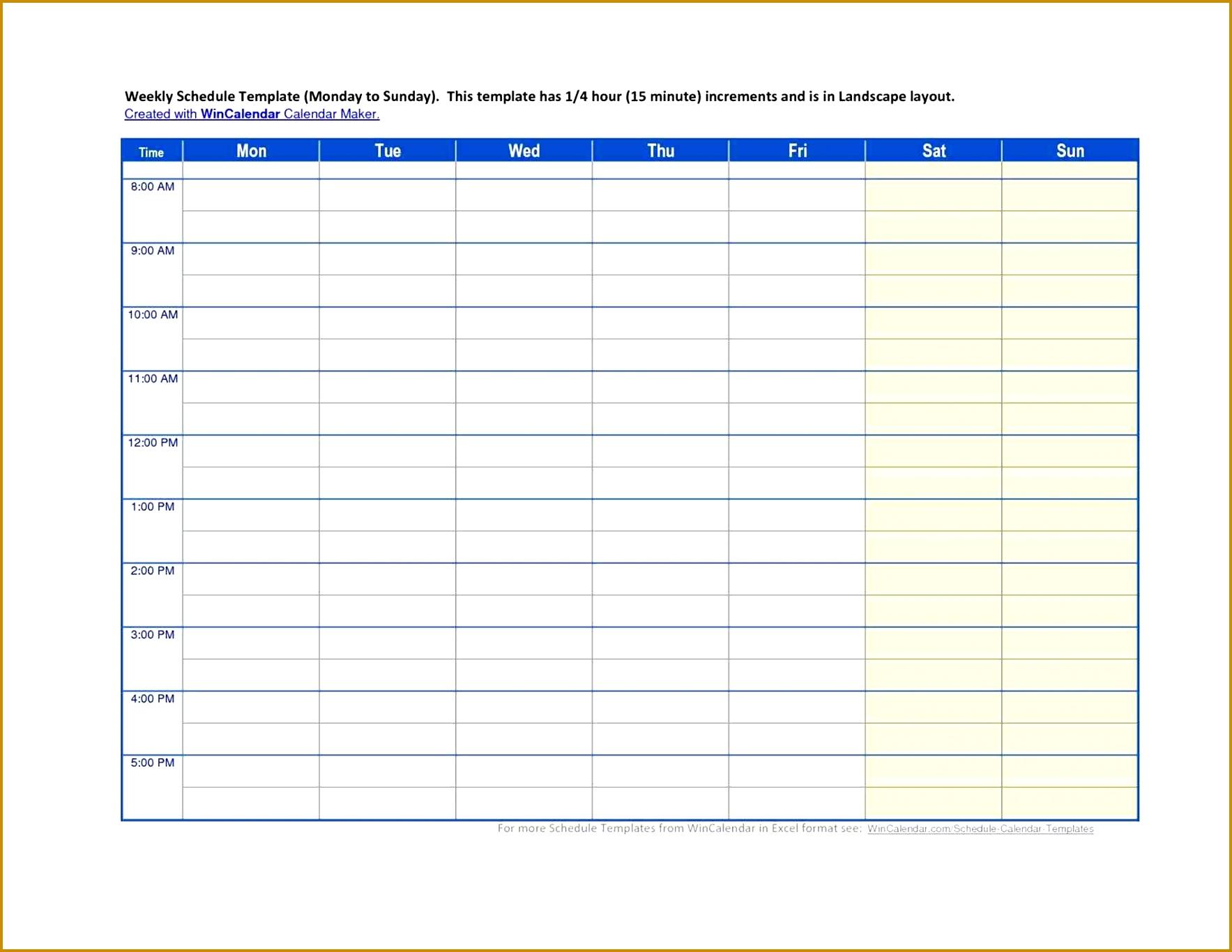 7 Proposal Schedule Template
