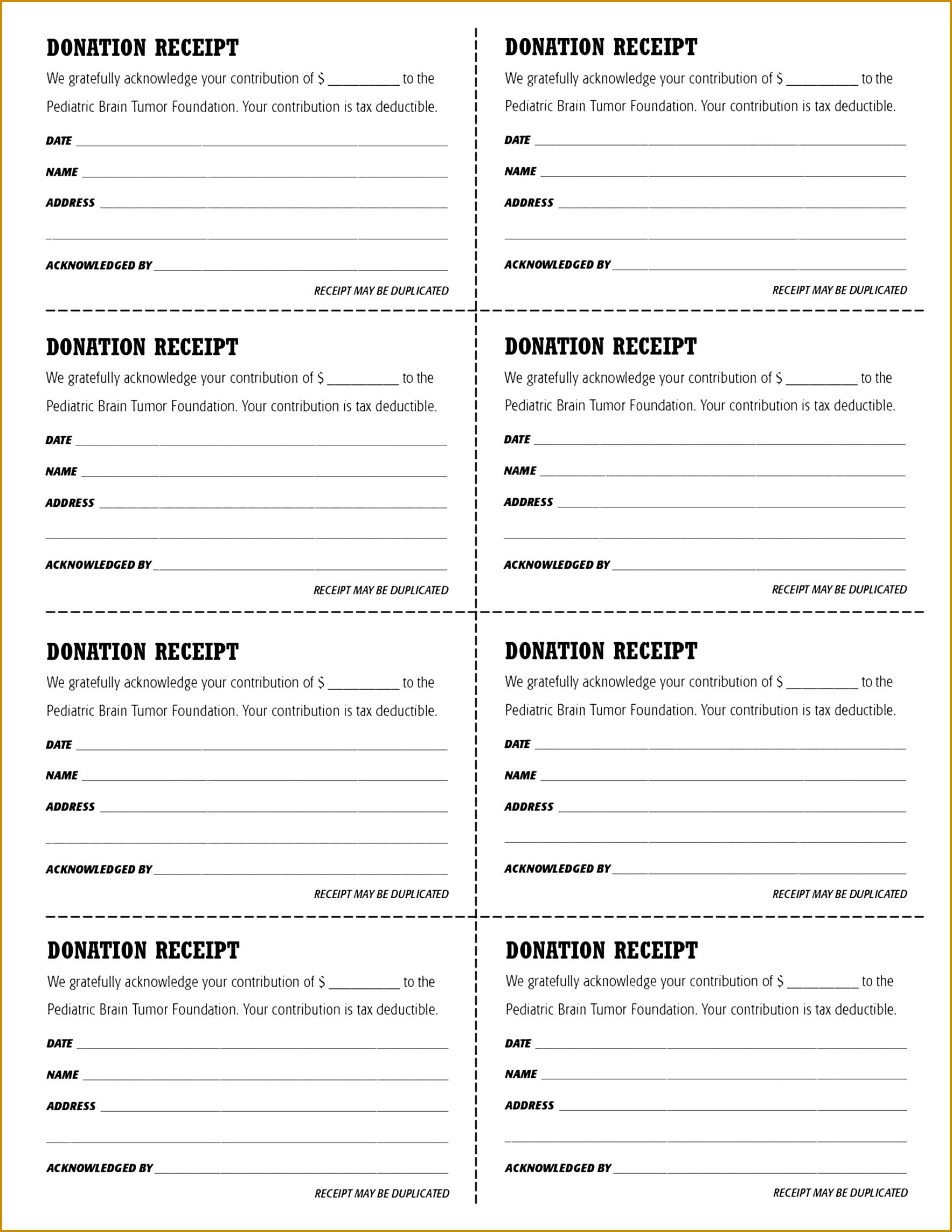 6 Tax Deductible Receipt Template