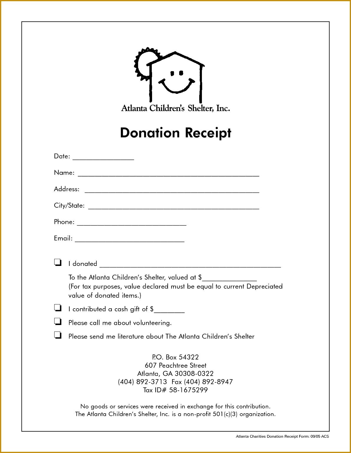 5 Donation Receipt Template