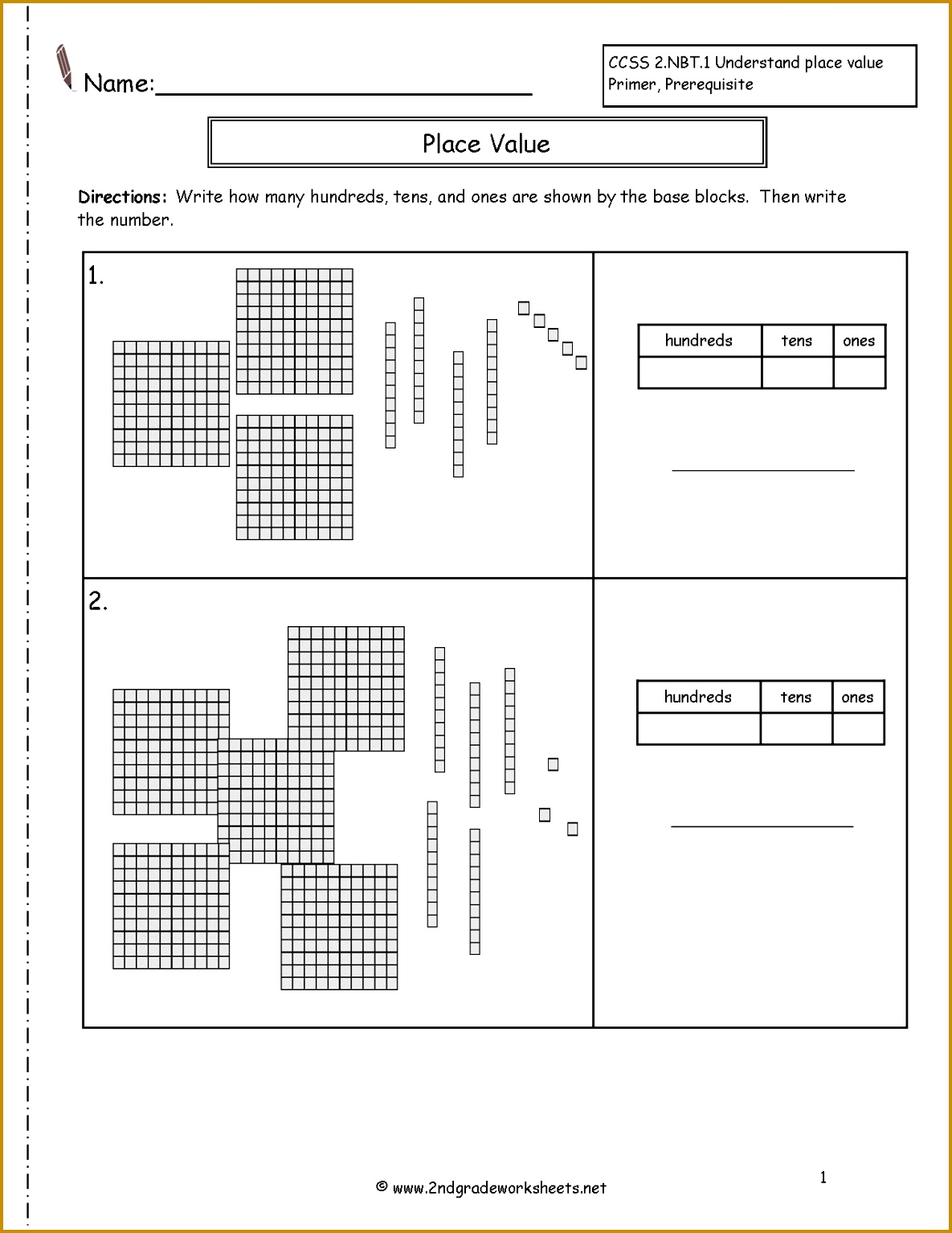 4 2nd Grade Place Value Worksheets