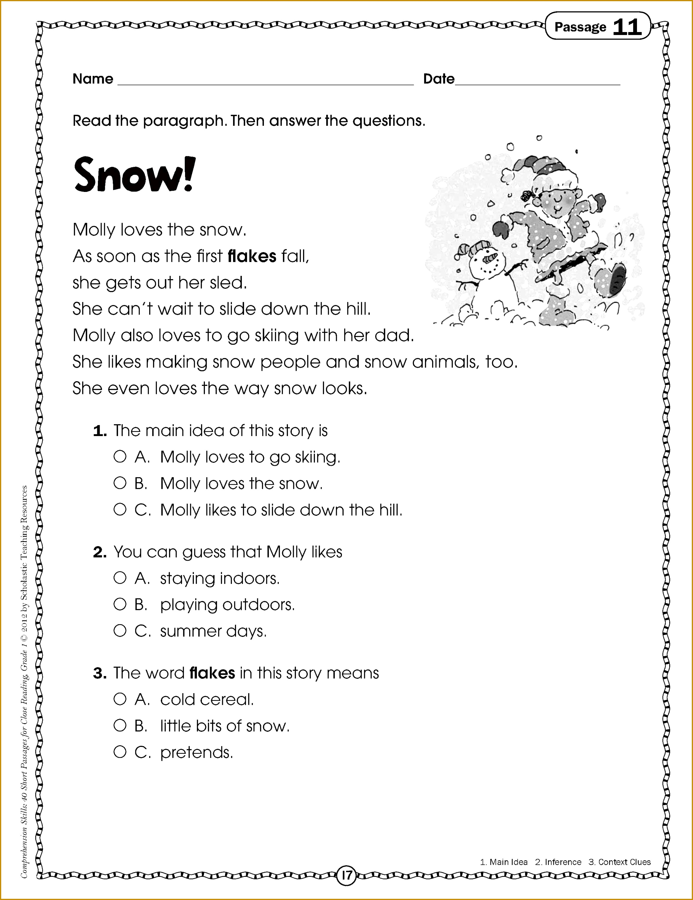 7 3rd Grade Reading Comprehension Worksheets