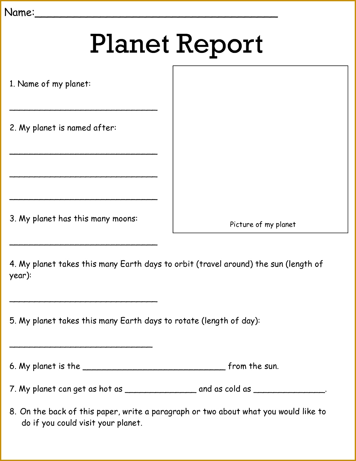 5 4th Grade Science Worksheets