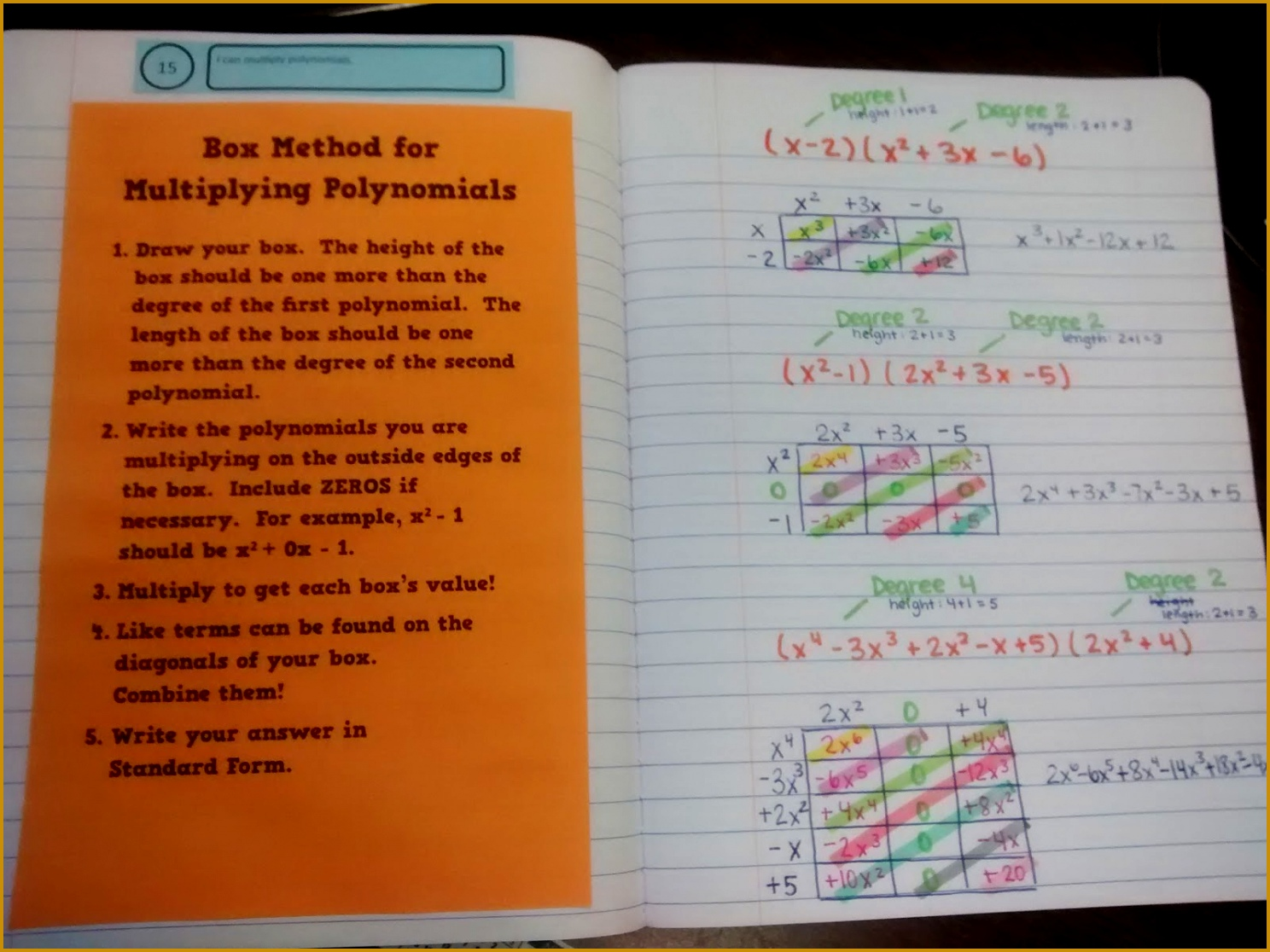 4 Adding And Subtracting Polynomials Worksheet