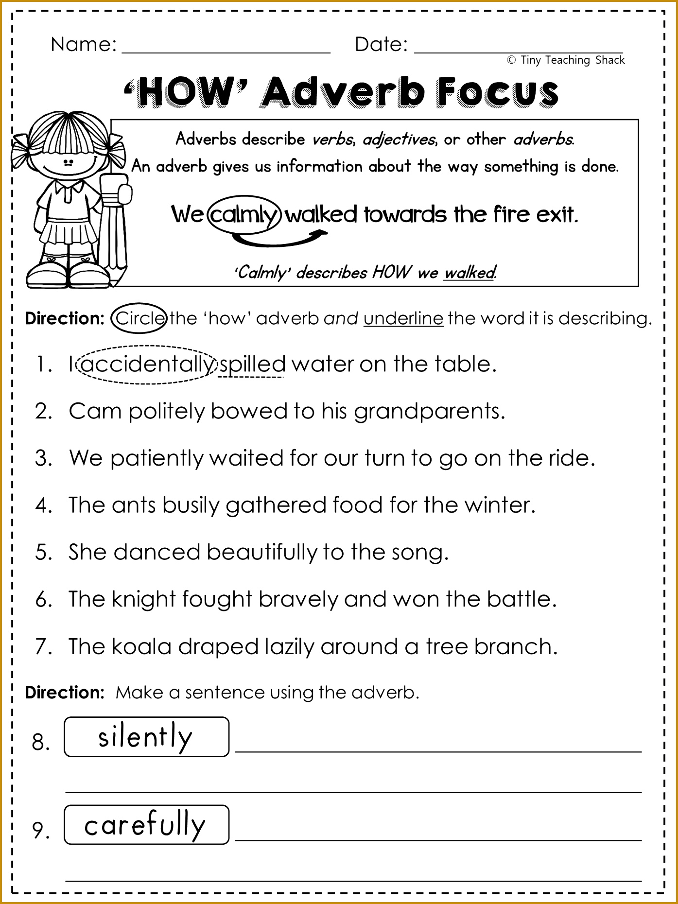 4 Adverb Worksheets