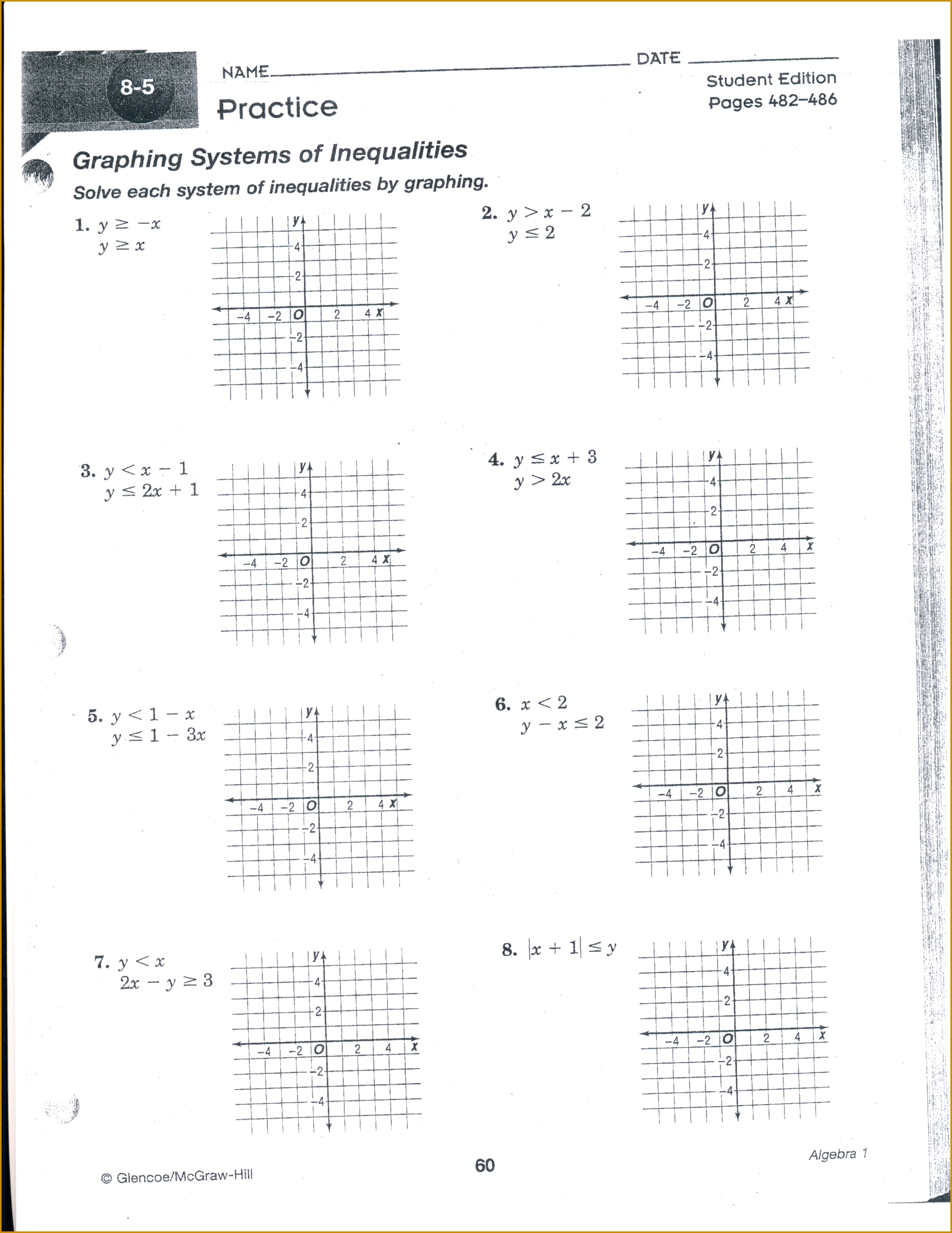 4 Algebra 2 Worksheets