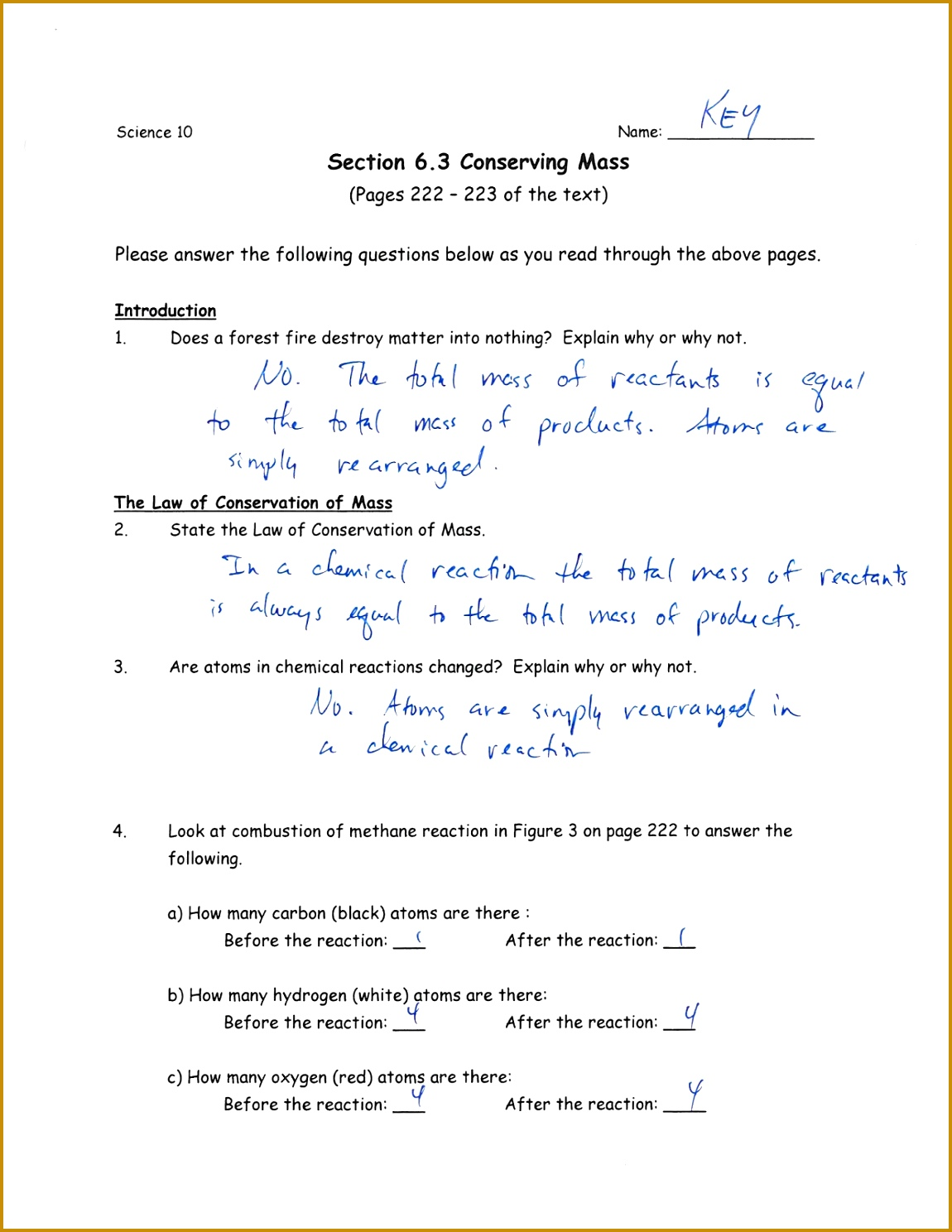 3 Balancing Chemical Equations Worksheet
