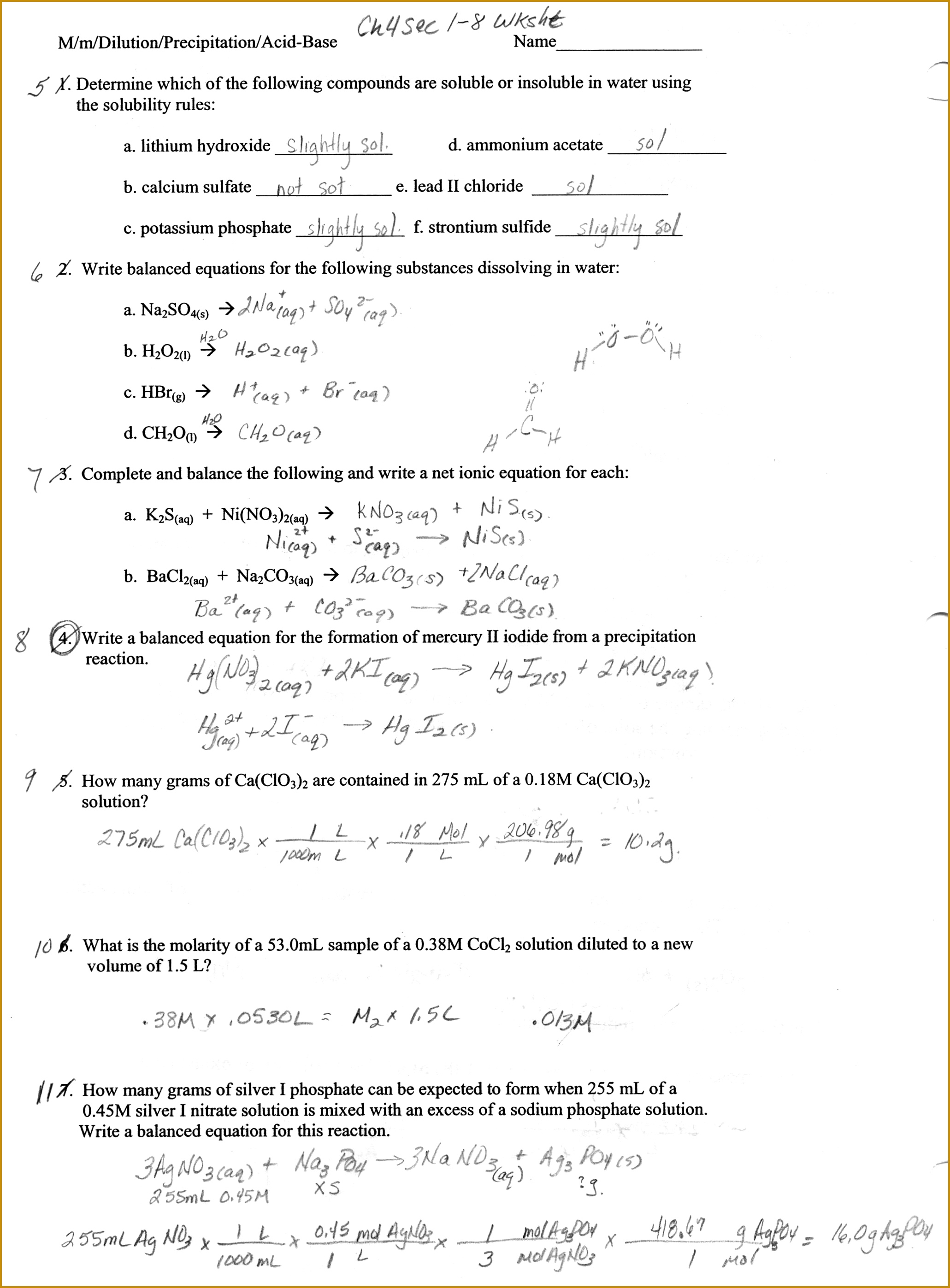 6 Balancing Equations Worksheet Answer Key