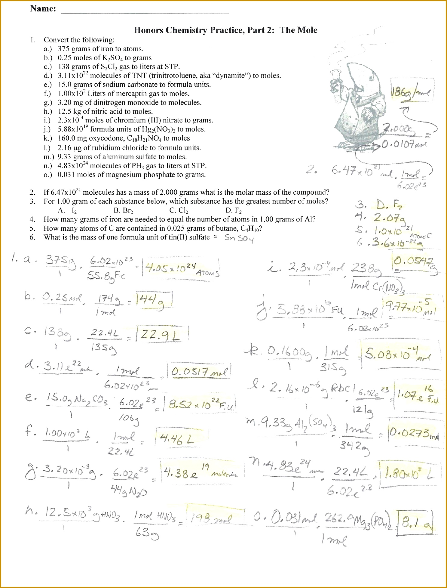 6 Boyles Law Worksheet