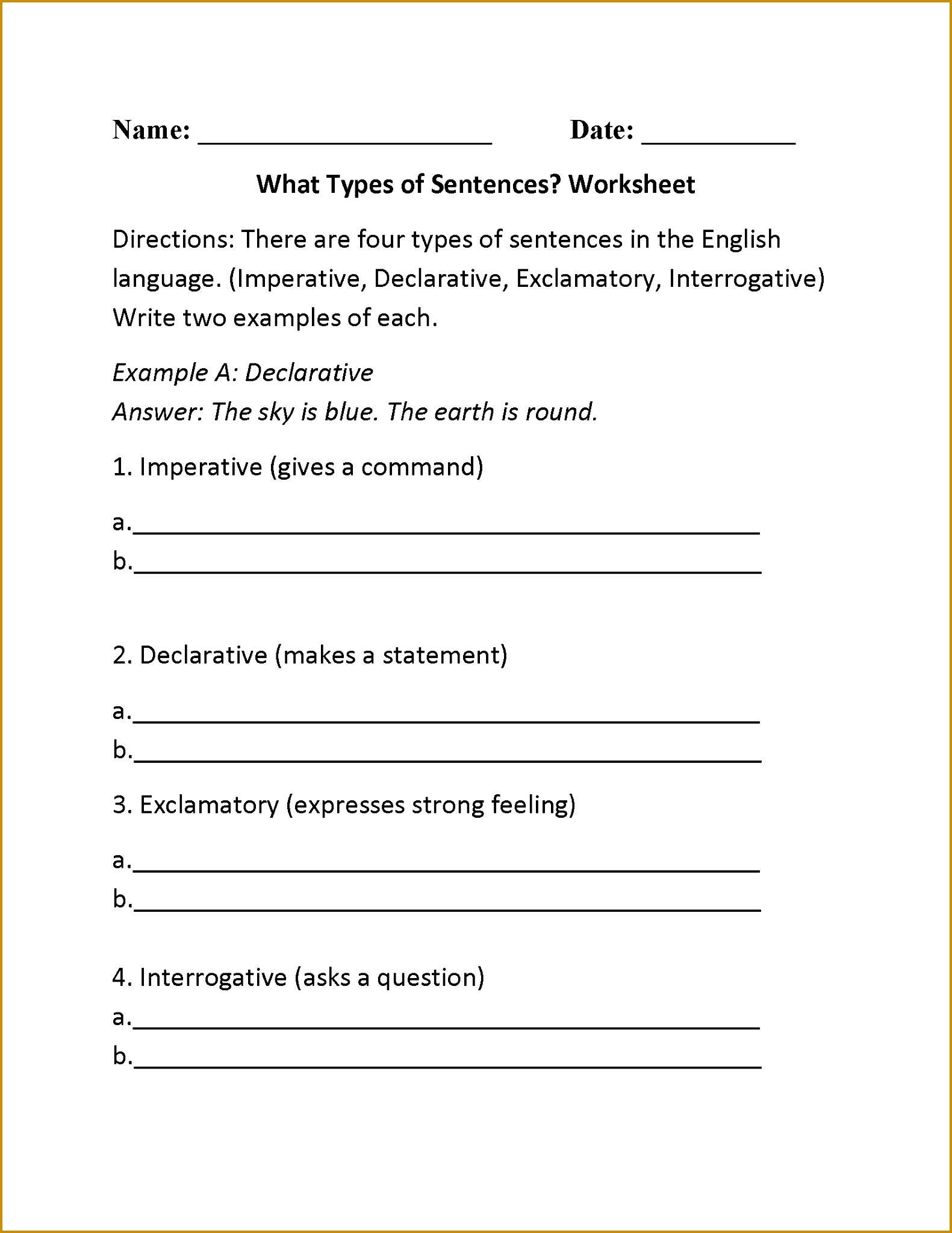 4 Capitalization Worksheets