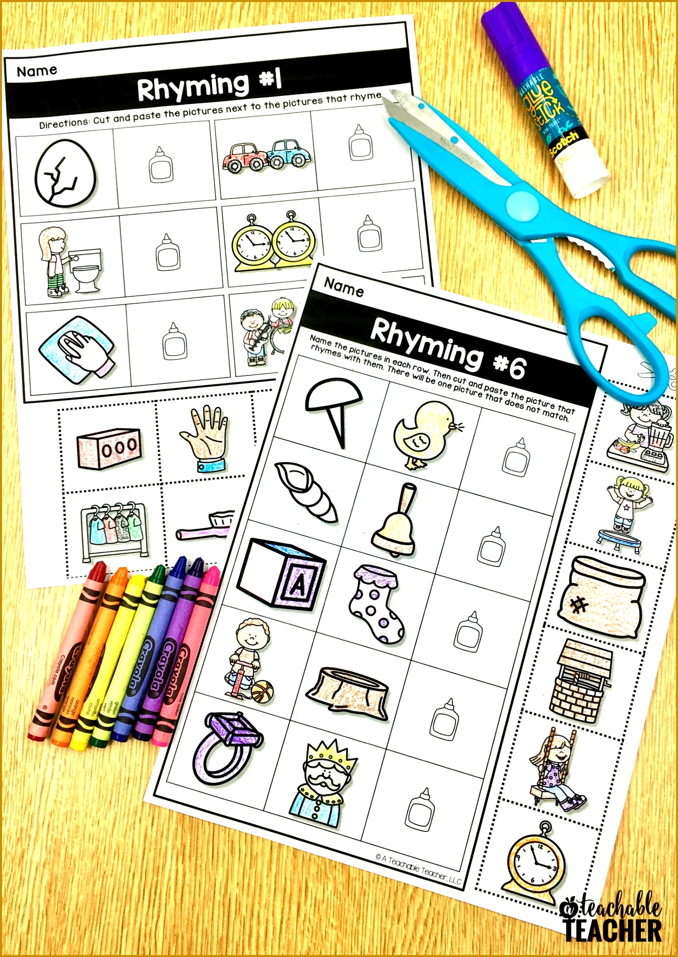 6 Cut And Paste Worksheets