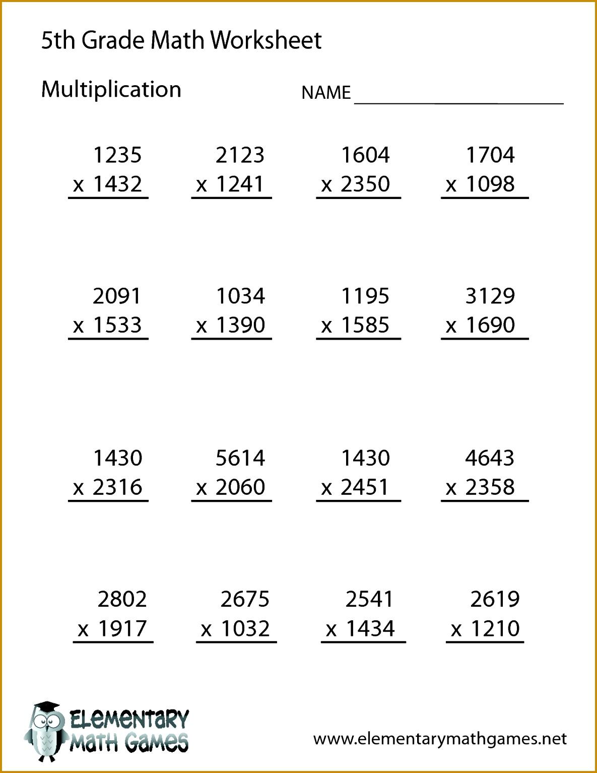 4 Decimal Worksheets 5th Grade