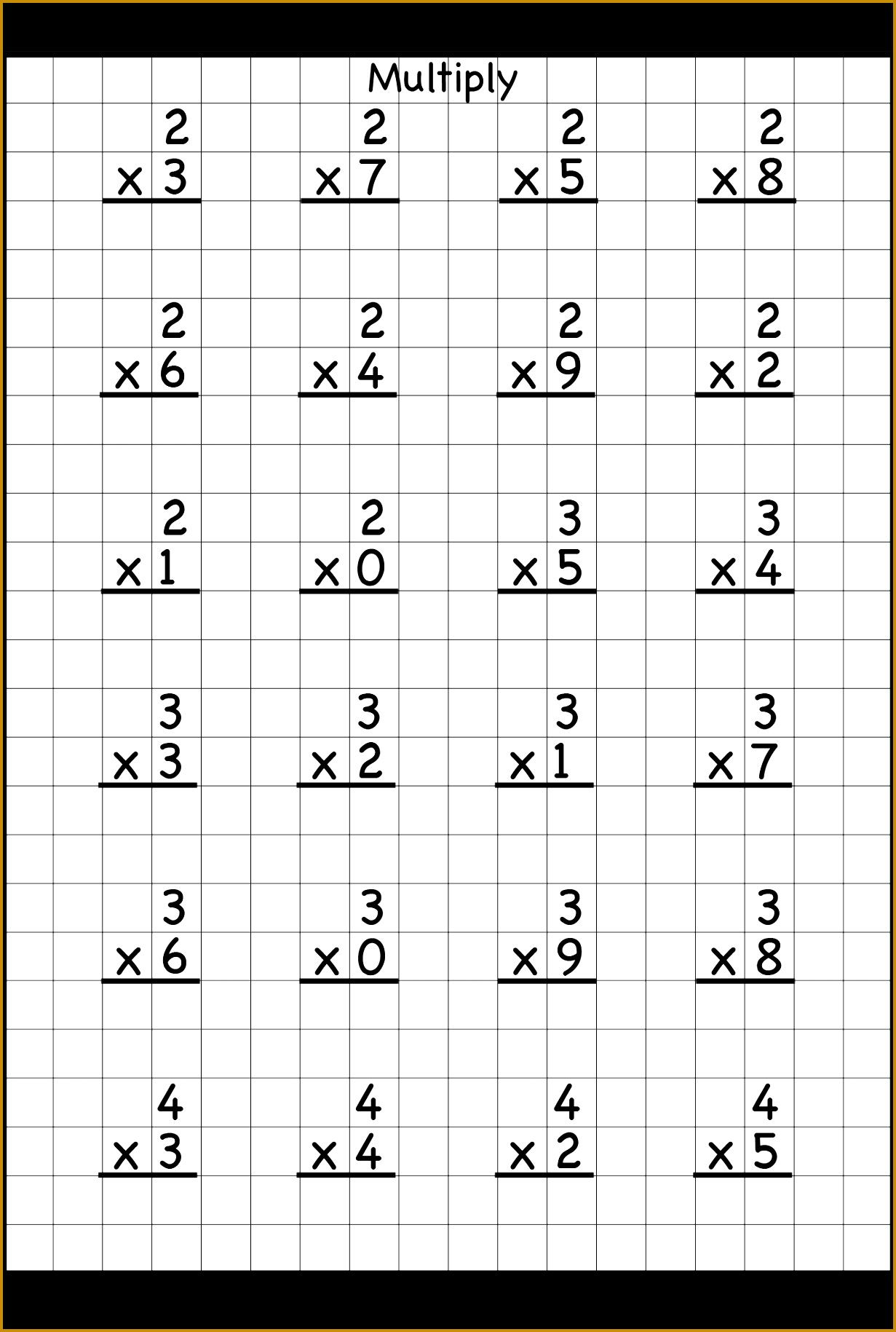 4 Double Digit Multiplication Worksheets