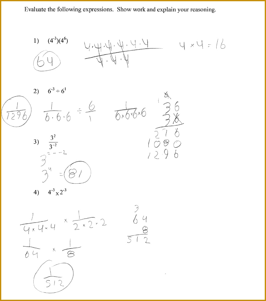3 Exponential and Logarithmic Equations Worksheet