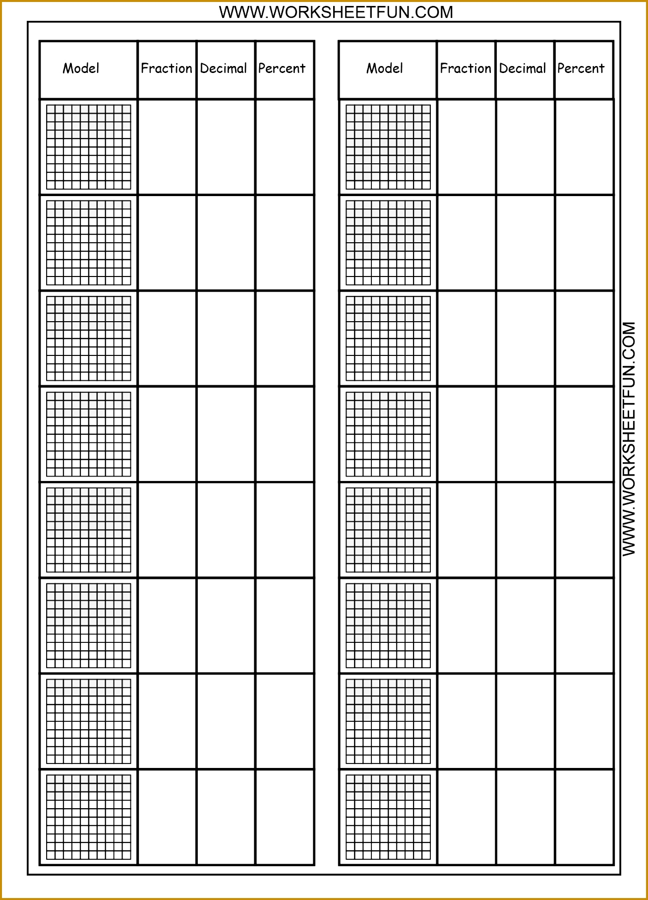 6 Fractions Worksheets