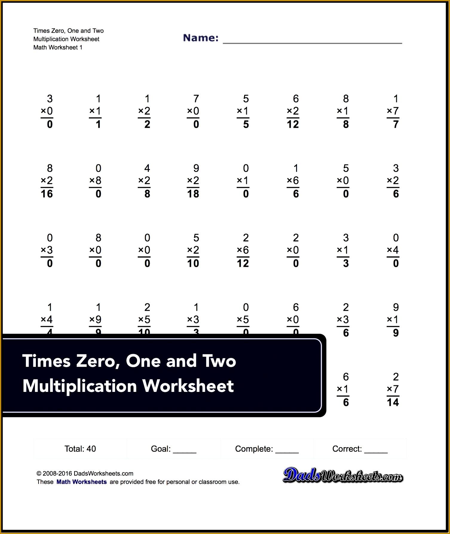 6 Multiplication Table Worksheet