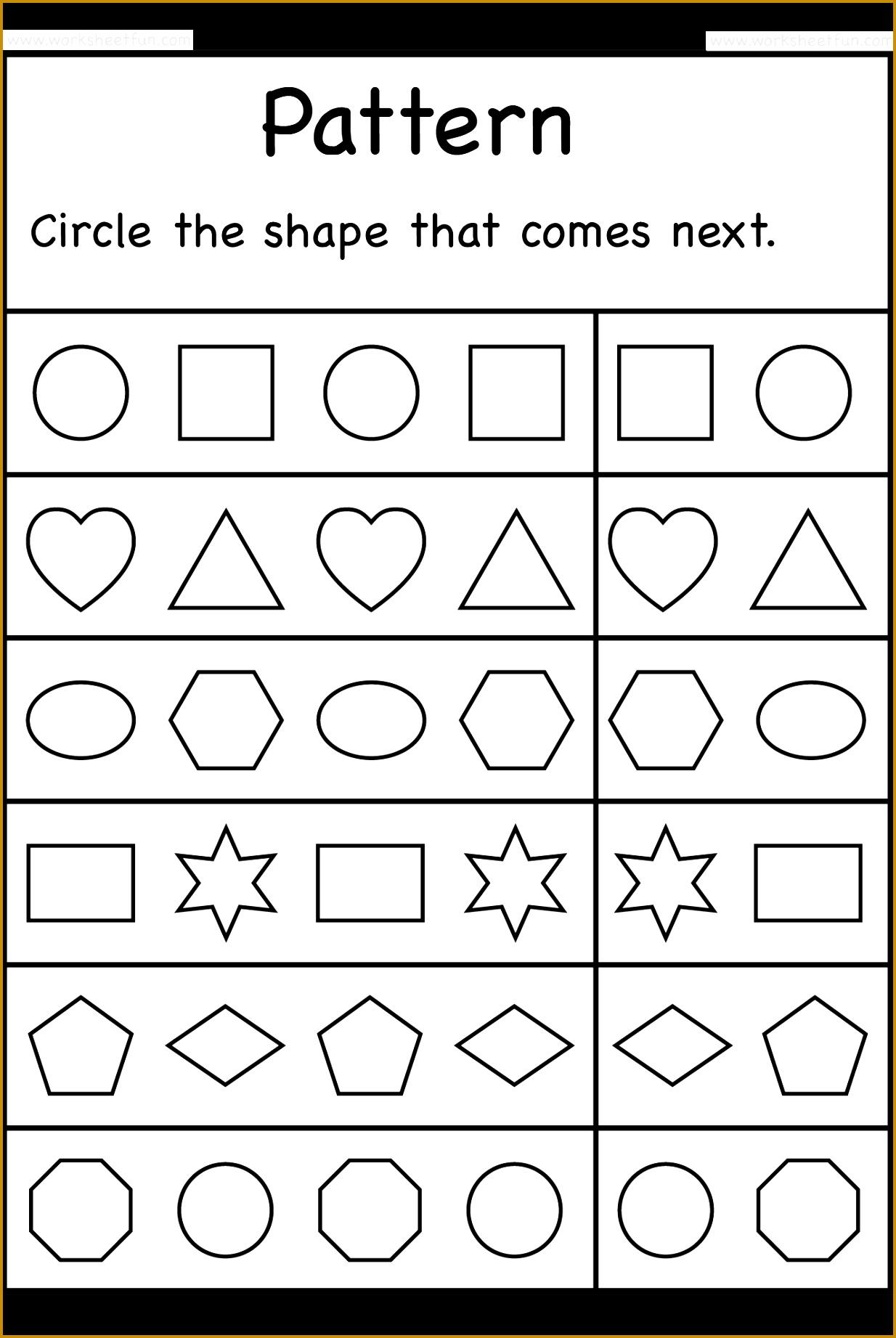 4 Free Printable Kindergarten Worksheets