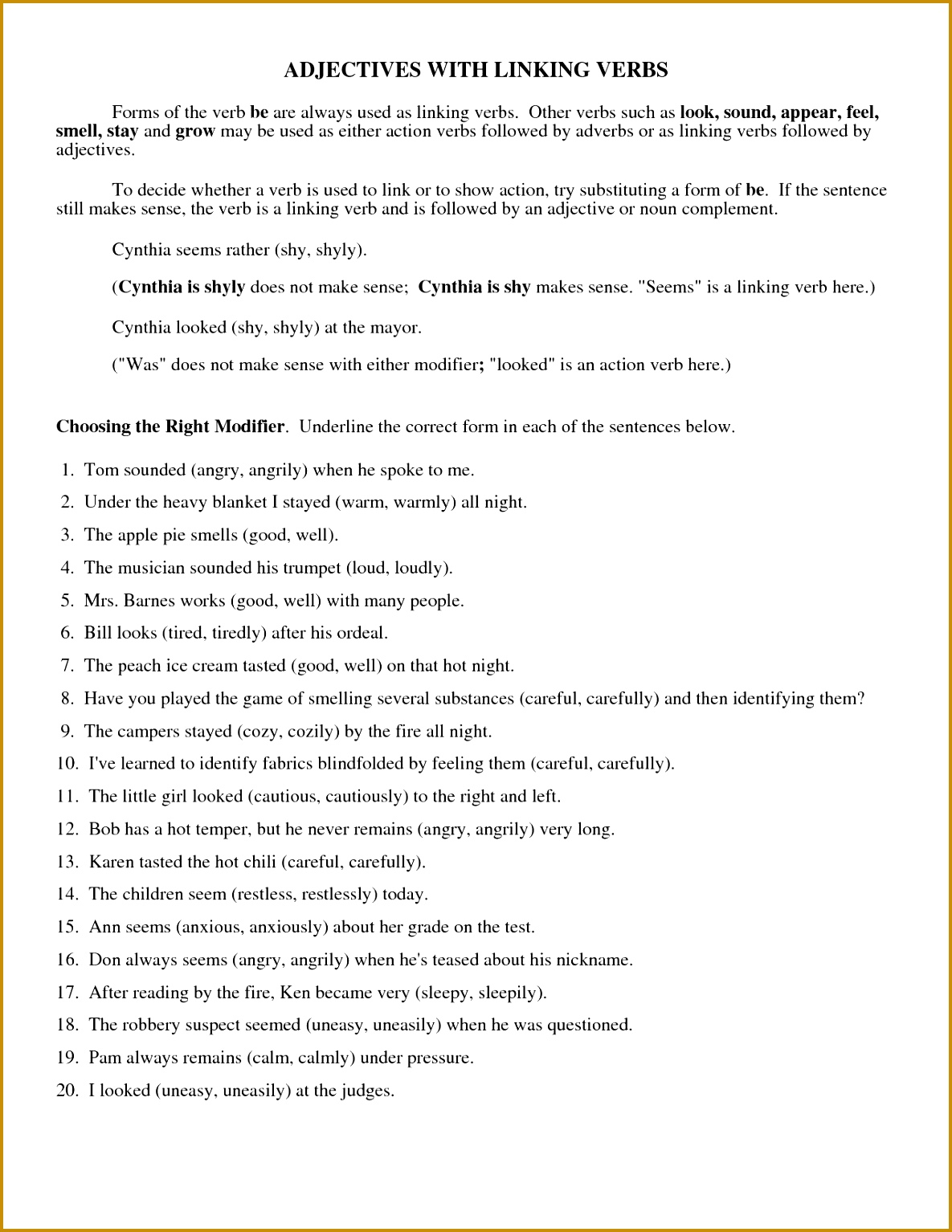 5 Irregular Verbs Worksheet