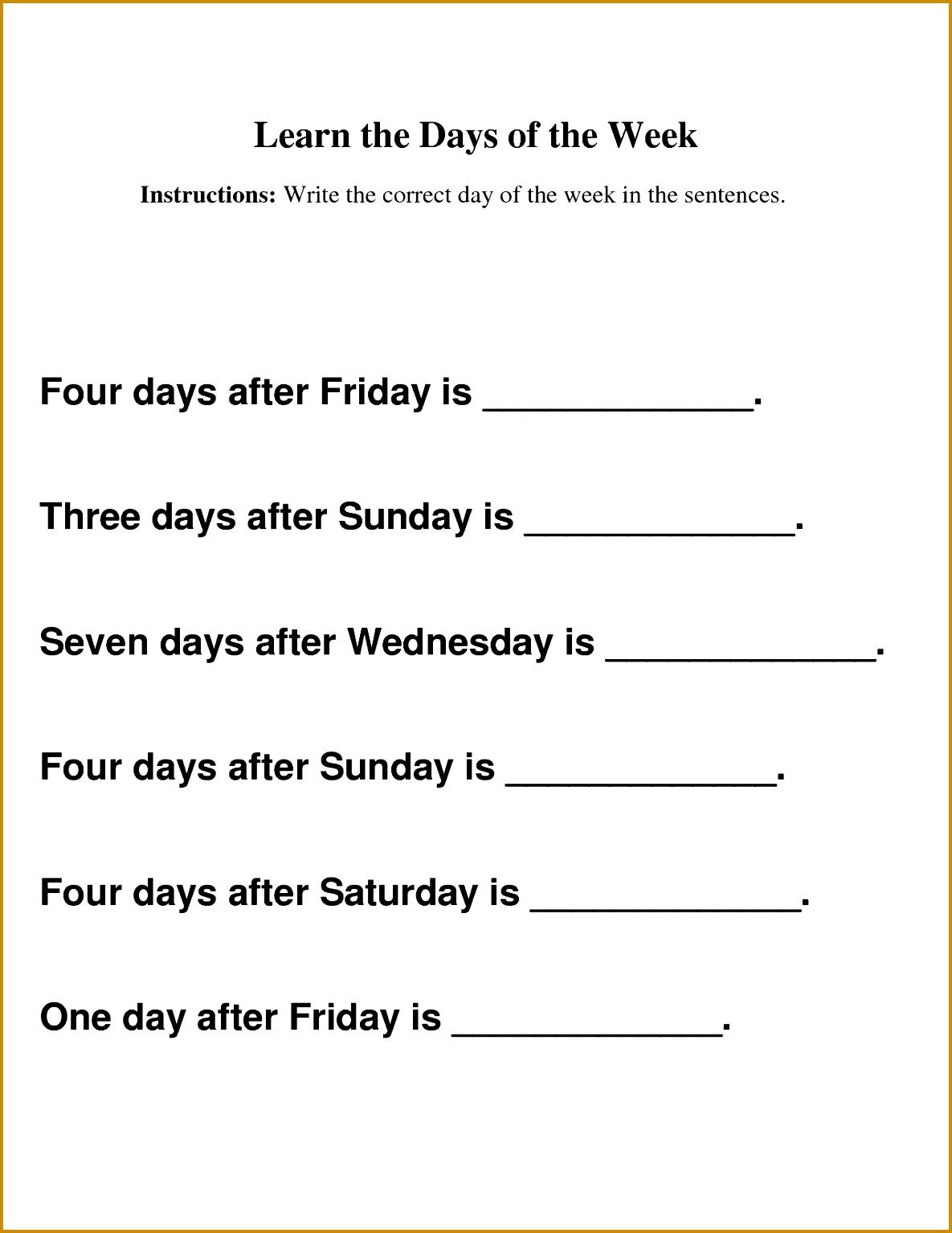 5 Kids Worksheets