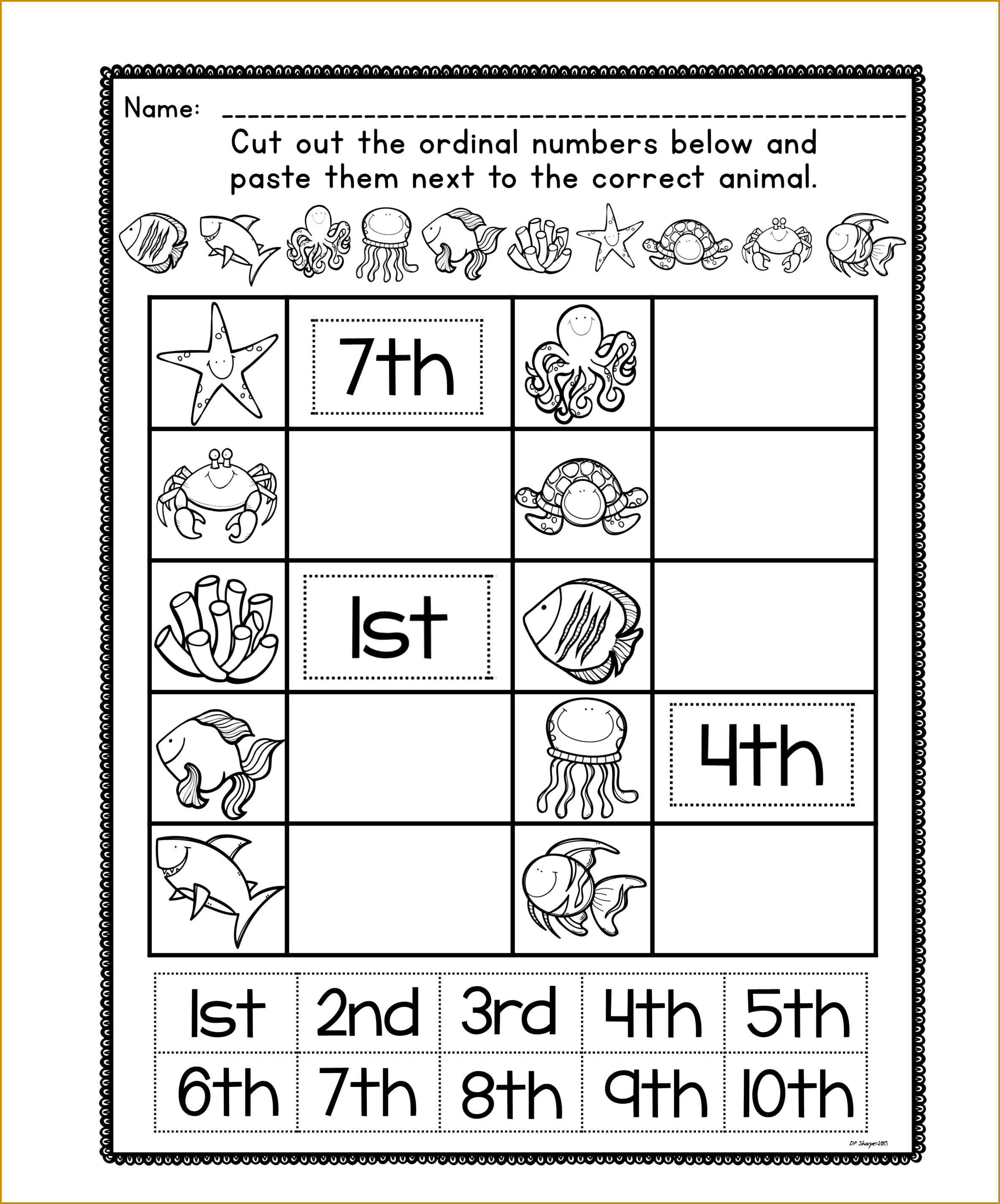 5 Kindergarten Math Worksheets